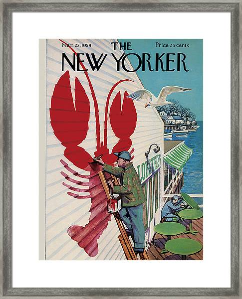 The New Yorker Cover - March 22, 1958 Framed Print