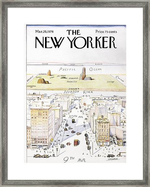 New Yorker March 29, 1976 Framed Print