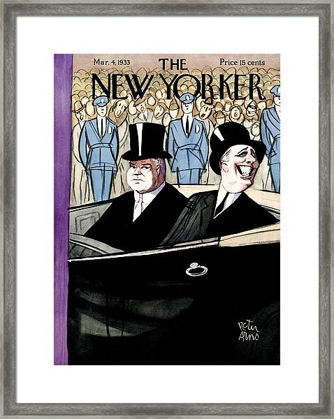 The New Yorker Cover - March 4th, 1933 Framed Print