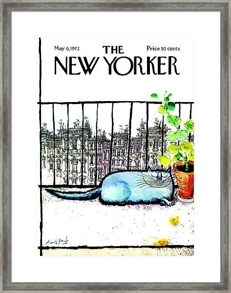 The New Yorker Cover - May 6th, 1972 Framed Print by Ronald Searle