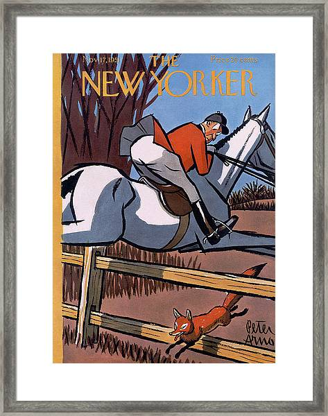 The New Yorker Cover - November 17, 1951 Framed Print by Peter Arno