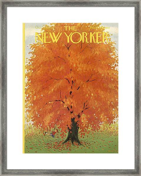 The New Yorker Cover - October 18th, 1952 Framed Print