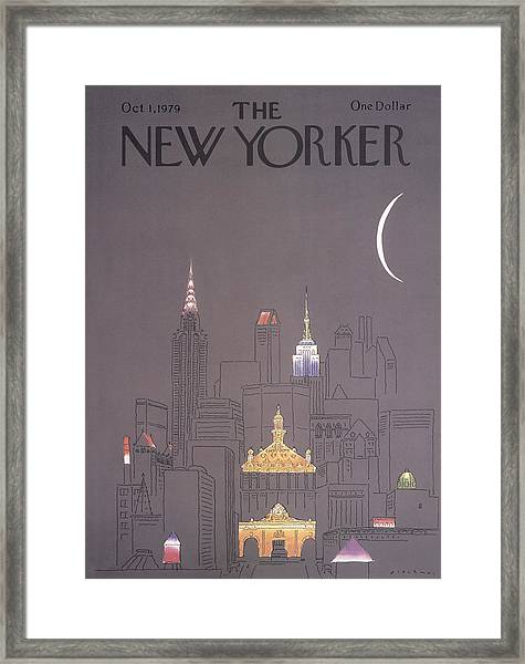The New Yorker Cover - October 1st, 1979 Framed Print