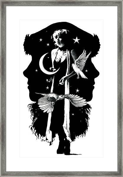 The Nightbird Framed Print