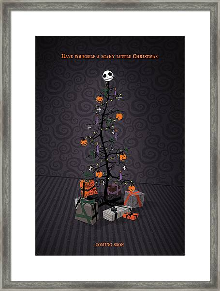 The Nightmare Before Christmas Alternative Poster Framed Print