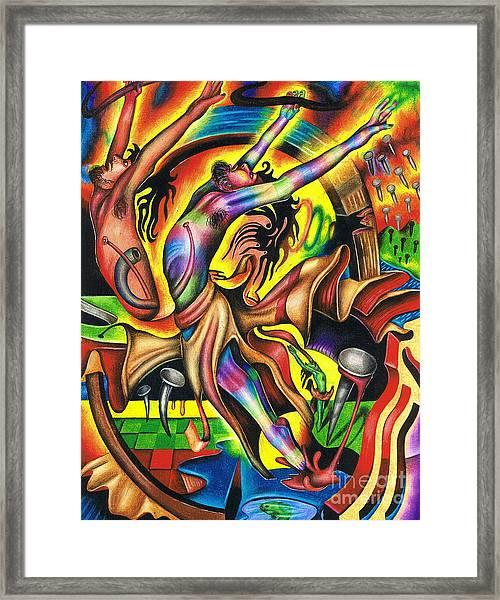 The Numinous Spectrum Of Exaltation Framed Print