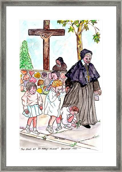 The Nuns Of St Marys Framed Print