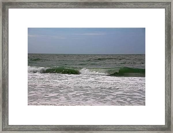 The Ocean In Motion Framed Print