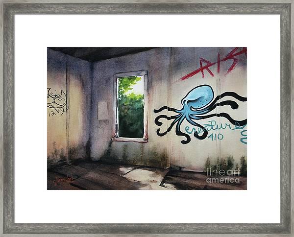 The Octopus's Garden Framed Print