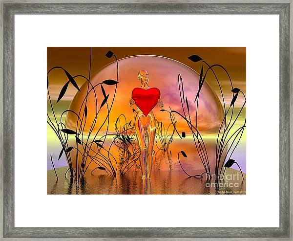 The Offering Framed Print by Sandra Bauser Digital Art