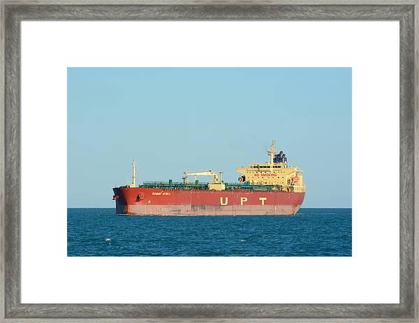 The Oil Tanker Summit Africa Framed Print