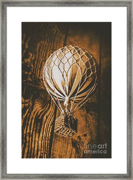 The Old Airship Framed Print