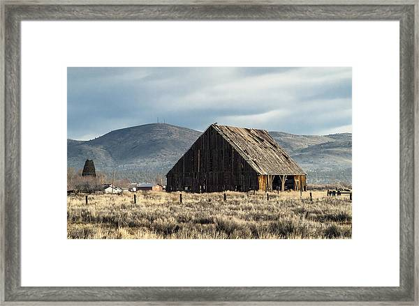 The Old Barn At The Edge Of Town Framed Print