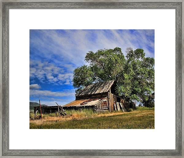The Old Barn Framed Print by Gene Praag
