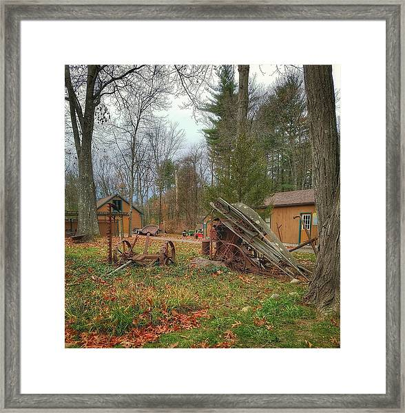 The Old Field Tools Framed Print