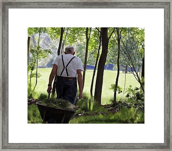 The Old Gardener Framed Print