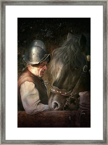 The Old Man And His Trusty Friend Framed Print
