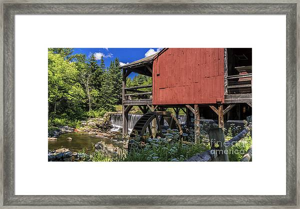 The Old Mill Museum. Framed Print
