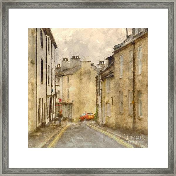 The Old Part Of Town Framed Print