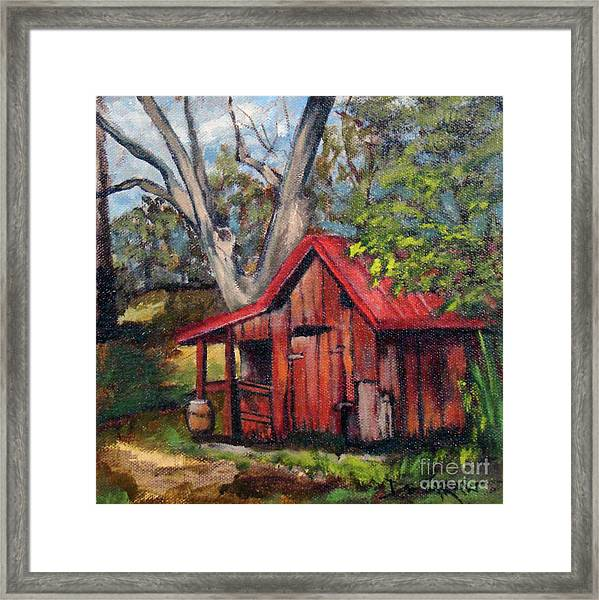 The Old Pig Barn Framed Print
