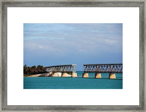 The Old Railroad To The Keys Framed Print