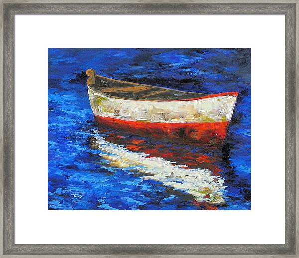 The Old Red Boat II  Framed Print