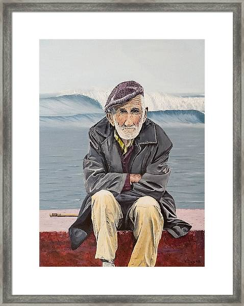 Framed Print featuring the painting The Old Waterman by Kevin Daly