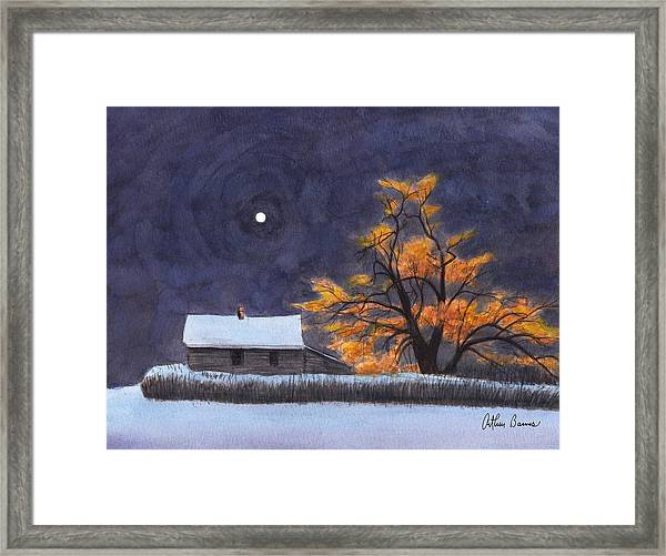 The Old Willow Framed Print