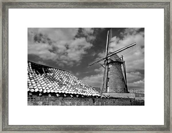 The Old Windmill Framed Print