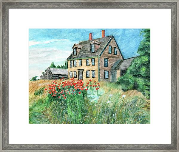 The Olson House With Poppies Framed Print