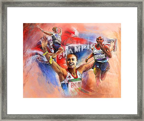 The Olympics Night Of Gold Framed Print