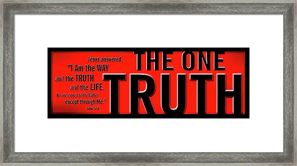 Framed Print featuring the digital art The One Truth by Shevon Johnson