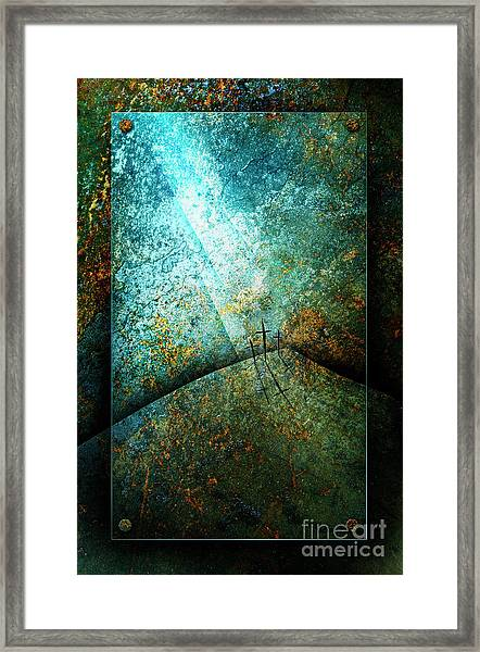 Framed Print featuring the mixed media The Only Way by Shevon Johnson