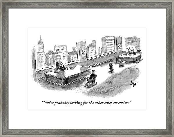 The Other Chief Executive Framed Print