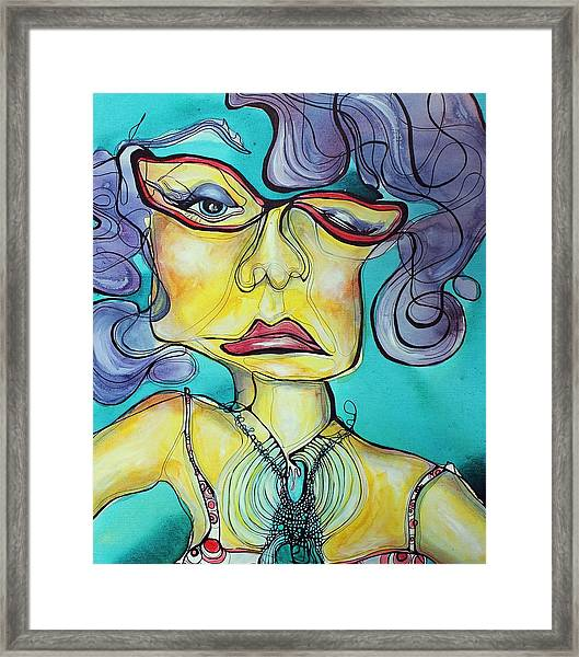 The Other Side Of Her Framed Print