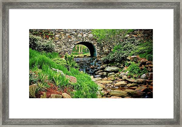 The Other Side Of The Bridge Framed Print