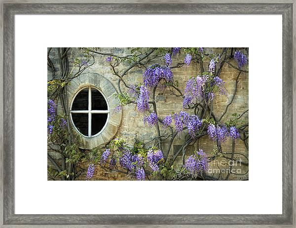 The Oval Window Framed Print