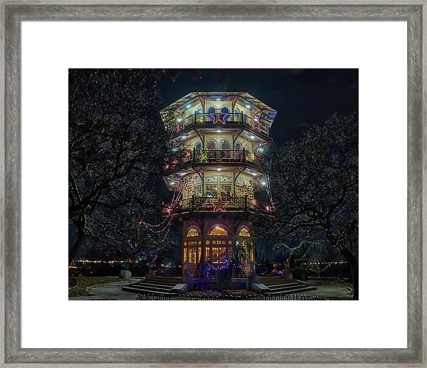 The Pagoda At Christmas Framed Print