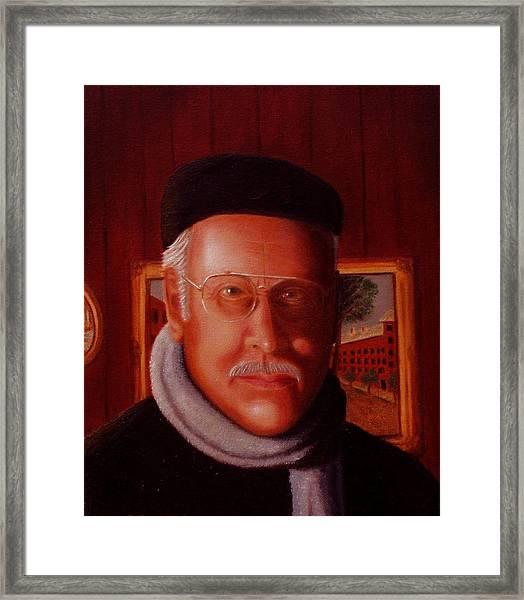 The Painter. Self Portrait Framed Print