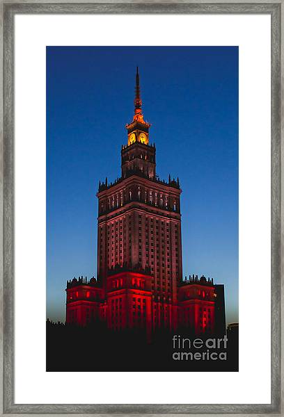 The Palace Of Culture And Science  Framed Print