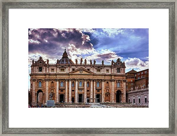 The Papal Basilica Of Saint Peter Framed Print