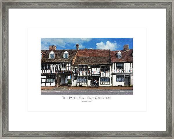 The Paper Boy - East Grinstead Framed Print