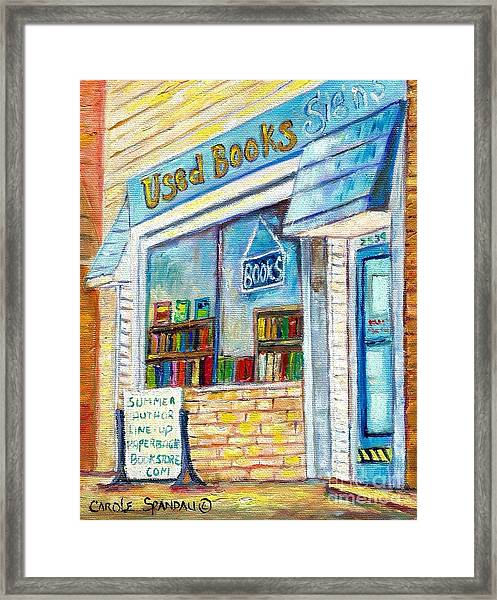 The Paperbacks Plus Book Store St Paul Minnesota Framed Print