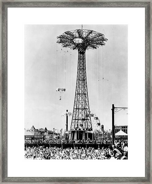 The Parachute Jump At Steeplechase Park Framed Print