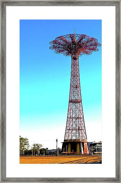 The Parachute Jump Framed Print