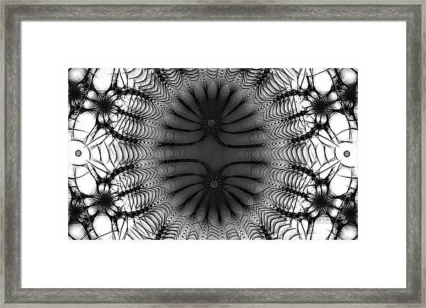 The Paradoxical  Sketch Bw Framed Print