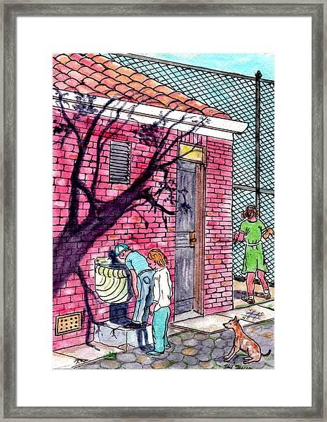 The Park Fountain Brooklyn Ny 1945 Framed Print