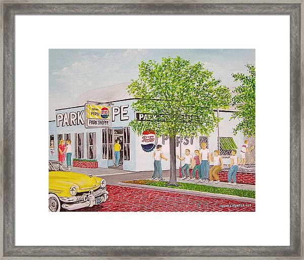 The Park Shoppe Portsmouth Ohio Framed Print