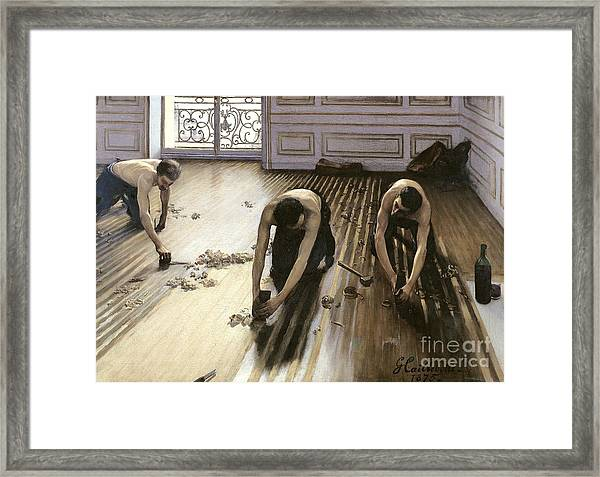 The Parquet Planers Framed Print