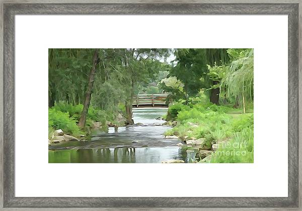The Pasture's Bridge Framed Print
